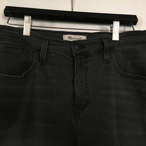 Madewell Mid-rise Charcoal Skinny Jeans